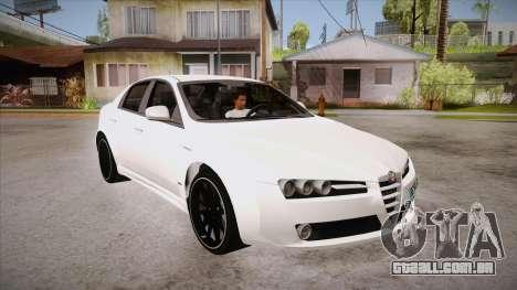 Alfa Romeo 159 para GTA San Andreas vista traseira