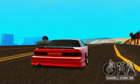 Nissan Silvia S13 HellaDrift para GTA San Andreas vista direita