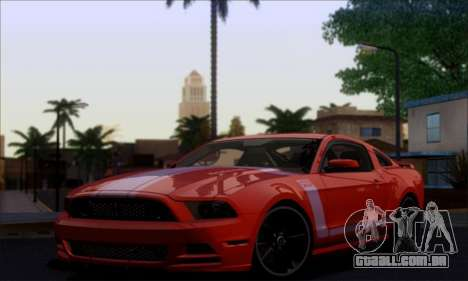 FF TG ICY ENB V1.0 para GTA San Andreas por diante tela