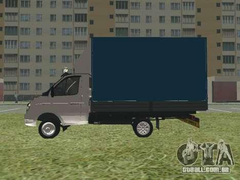 3302 gazela para GTA San Andreas traseira esquerda vista