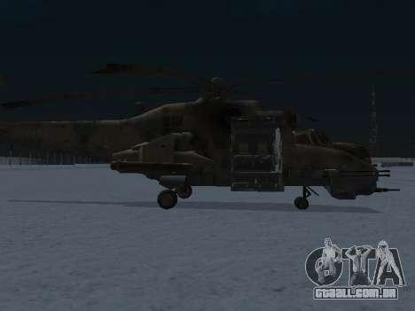 O MI-24 p para GTA San Andreas traseira esquerda vista