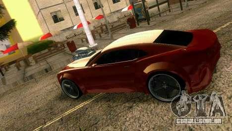 Chevrolet Camaro JR Tuning para GTA Vice City vista traseira