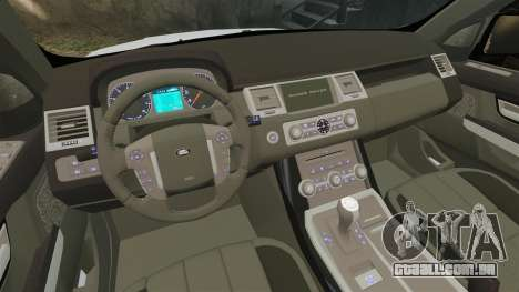 Range Rover Sport Autobiography 2013 Vossen para GTA 4 vista interior