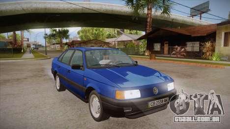 Volkswagen Passat B3 IVLM para GTA San Andreas vista traseira