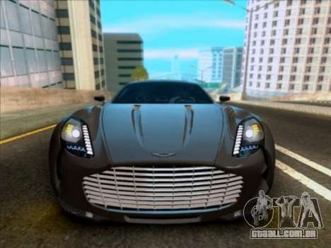 Aston Martin One-77 para GTA San Andreas vista interior