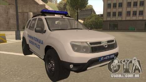 Dacia Duster Granična Policija foi para GTA San Andreas esquerda vista