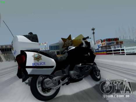 BMW K1200LT Police para GTA San Andreas