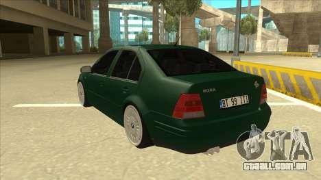VW Bora para GTA San Andreas vista traseira