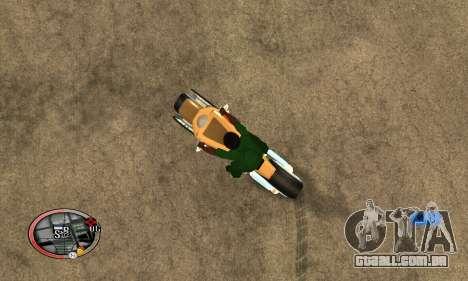 Tadpole Motorcycle para GTA San Andreas esquerda vista