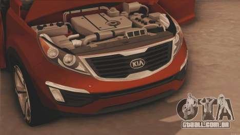 Kia Sportage para GTA San Andreas traseira esquerda vista