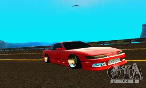 Nissan Silvia S13 HellaDrift para GTA San Andreas vista interior