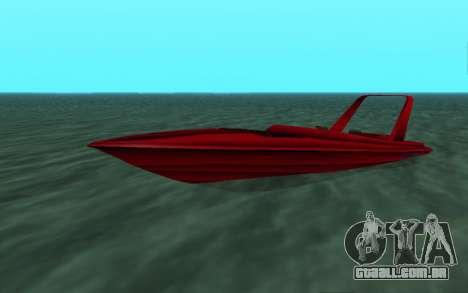 Vice City Squallo II para GTA San Andreas esquerda vista