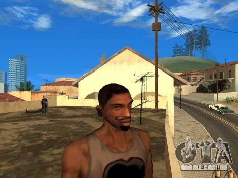 A nova cara do CJ para GTA San Andreas segunda tela