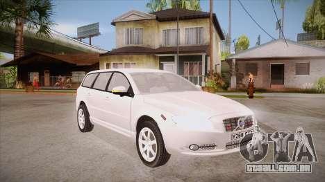 Volvo V70 Unmarked Police para GTA San Andreas vista traseira