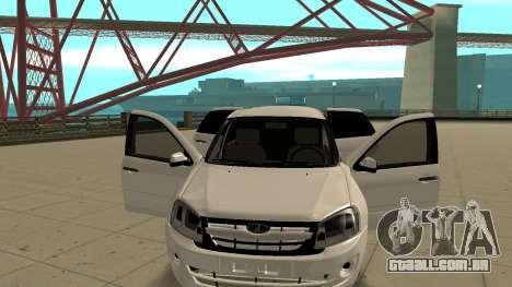 Lada Granta Limousine para GTA San Andreas vista traseira