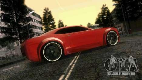 Chevrolet Camaro JR Tuning para GTA Vice City vista superior