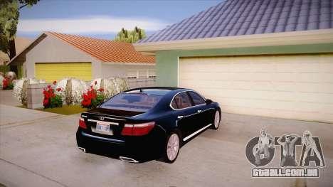 Lexus LS 600h L para GTA San Andreas vista direita
