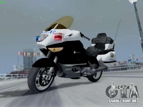 BMW K1200LT Police para GTA San Andreas vista traseira