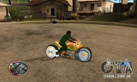 Tadpole Motorcycle para GTA San Andreas vista traseira
