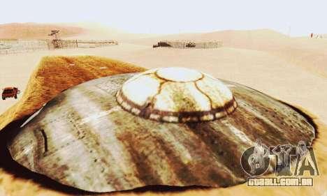 UFO Crash Site para GTA San Andreas por diante tela