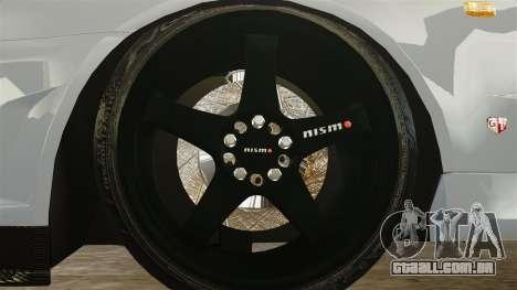 Nissan Skyline R34 para GTA 4 vista de volta