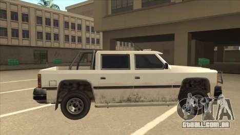 Declasse Rancher FXT para GTA San Andreas traseira esquerda vista