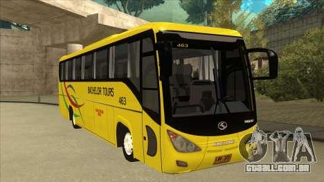 Kinglong XMQ6126Y - Bachelor Tours 463 para GTA San Andreas esquerda vista