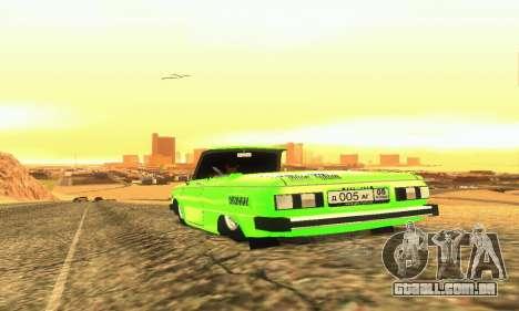 ZAZ 968 Cabriolet Tuning para GTA San Andreas vista direita