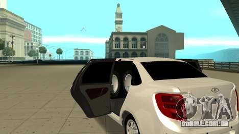 Lada Granta Limousine para GTA San Andreas vista direita