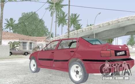 Volkswagen Vento para vista lateral GTA San Andreas
