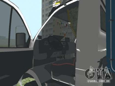 3302 gazela para GTA San Andreas vista traseira