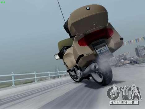 BMW K1200LT para GTA San Andreas vista superior
