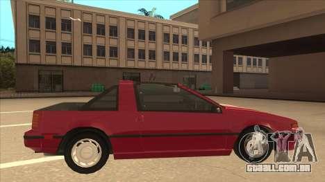 Nissan EXA L.A. Version para GTA San Andreas traseira esquerda vista