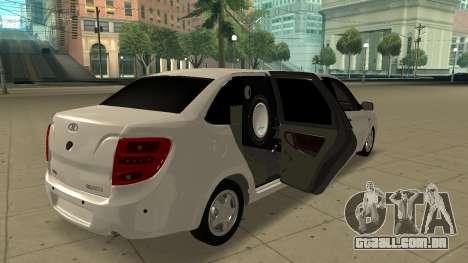 Lada Granta Limousine para GTA San Andreas traseira esquerda vista