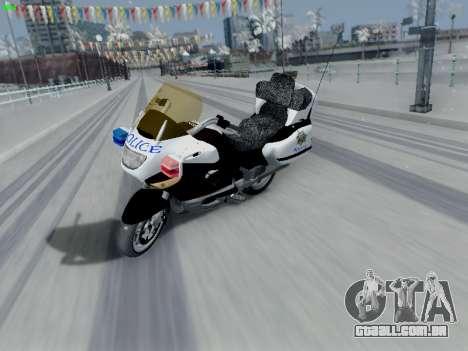 BMW K1200LT Police para GTA San Andreas traseira esquerda vista
