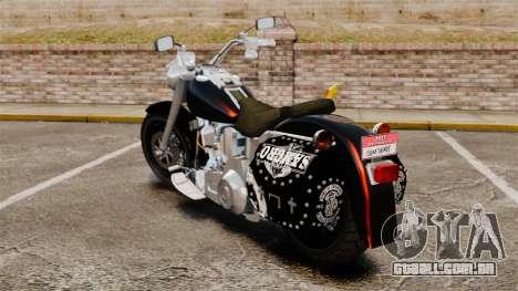 Harley-Davidson para GTA 4 esquerda vista