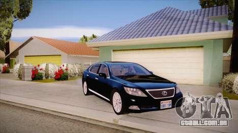 Lexus LS 600h L para GTA San Andreas vista interior