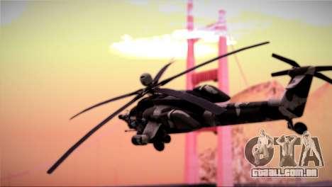 Mi-28N Havoc para GTA San Andreas vista traseira