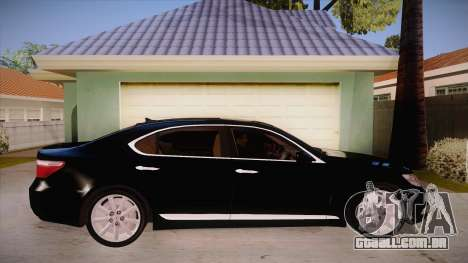Lexus LS 600h L para GTA San Andreas vista traseira