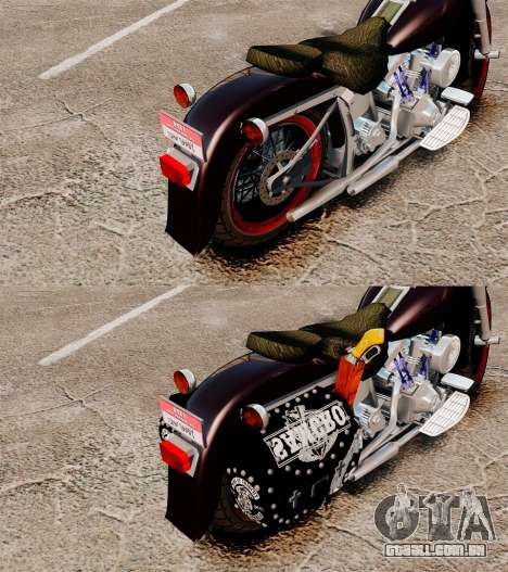 Harley-Davidson para GTA 4 vista de volta