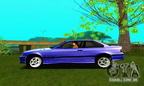 BMW E36 Low and Slow para GTA San Andreas esquerda vista