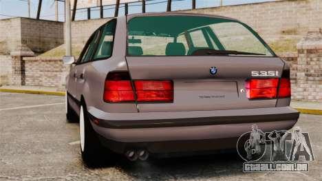 BMW 535 E34 Touring para GTA 4 traseira esquerda vista