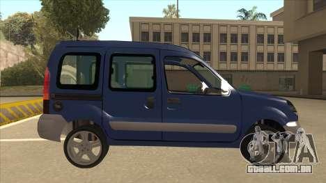RENAULT KANGOO v2 para GTA San Andreas traseira esquerda vista
