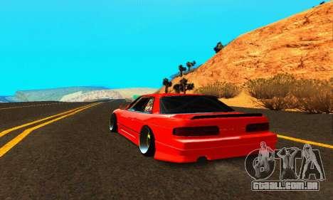 Nissan Silvia S13 HellaDrift para GTA San Andreas traseira esquerda vista