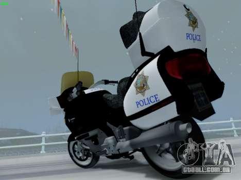BMW K1200LT Police para GTA San Andreas vista interior