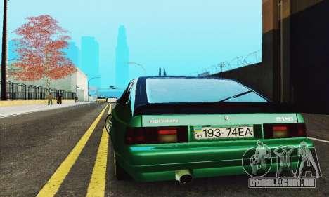 2141 AZLK preto Tuning para GTA San Andreas vista interior