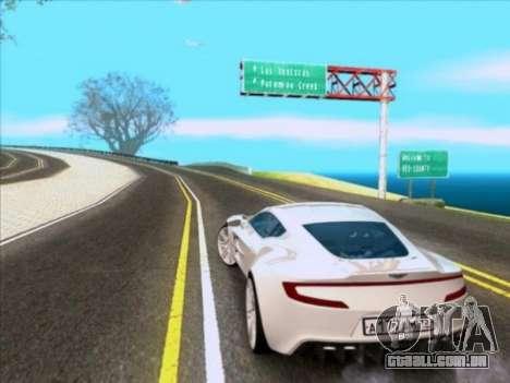 Aston Martin One-77 para GTA San Andreas traseira esquerda vista