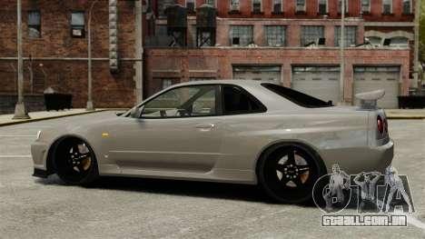 Nissan Skyline R34 para GTA 4 esquerda vista