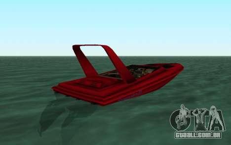 Vice City Squallo II para GTA San Andreas traseira esquerda vista