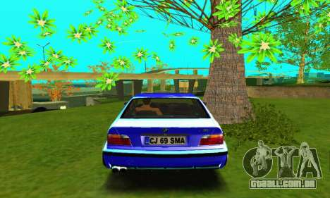 BMW E36 Low and Slow para GTA San Andreas vista direita